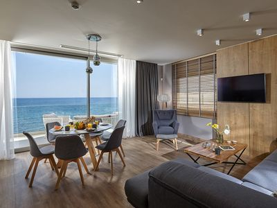 Photo for NEW Seafront Apartment / 3 bedrooms familyfriendly, direct on the beach