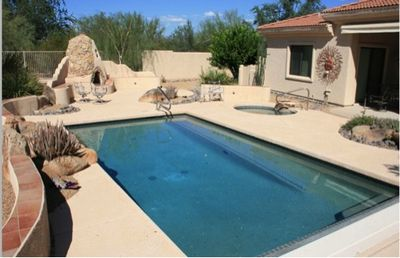 Photo for 3 BR Vacation Home On Golf Course With Private Backyard Pool/Hot Tub/Fireplace