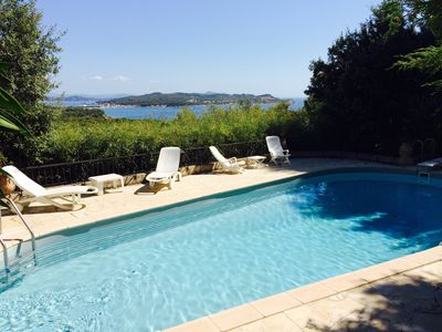 Photo for Provencal house on the Riviera with swimming pool, magnificent view on the sea