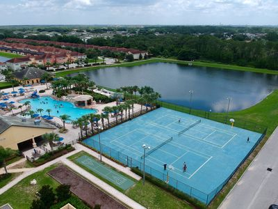 Photo for Spacious townhome w/ a private pool, shared tennis, & gym - close to Disney!