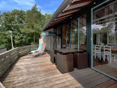 Photo for Bungalow with amazing views over the valley from the terrace in the Ardennes