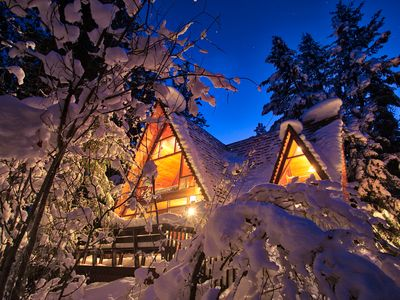 Photo for Escape in this charming chalet cabin with that secluded feel.
