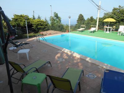 Photo for Panoramic Casavacanza in Villa with 'SoleMare' pool