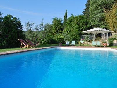 Photo for Apartment with swimming pool and panoramic terrace, 2 steps from Florence