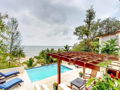 Photo for NEW LISTING! Beachfront villa w/private pool, terrace & gorgeous Caribbean views