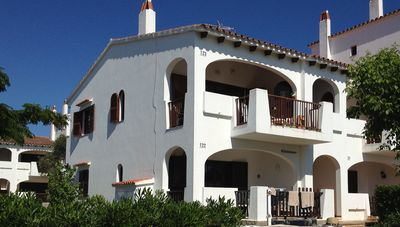 Photo for First floor two bedroom apartment with sea views in Cala'n Porter, Menorca
