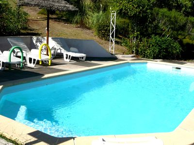 Photo for 16 km from Grasse Gîte les MIMOSAS 2-4 pers swimming pool lake St Cassien wifi