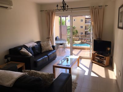 Photo for Apartment With Balcony And Communal Pool.  Free Wi Fi & internet TV