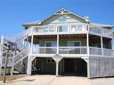 Photo for #4009: Partial OCEAVIEW Home in Corolla w/HtdPool, HotTub & RecRm