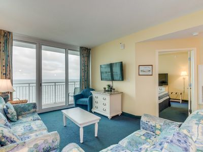Photo for Oceanfront, corner end unit at a great resort with amazing pool amenities!!