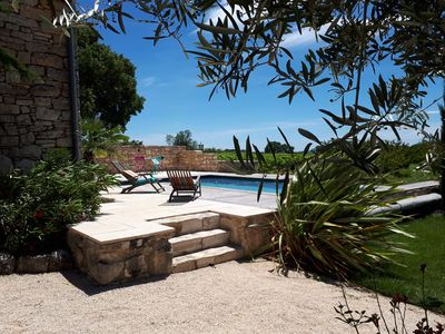Photo for South Ardèche - Renovated Bergerie of 170m² - 4 bedrooms - private pool