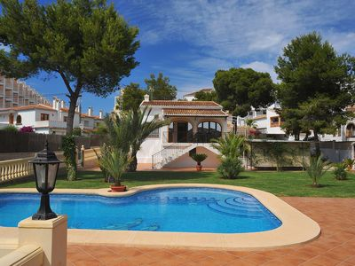 Photo for This 3-bedroom villa for up to 6 guests is located in Javea and has a private swimming pool and air-