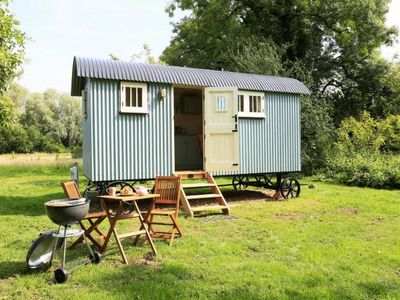 Photo for Beautifully crafted Shepherd Hut with en-suite in peaceful stunning countryside