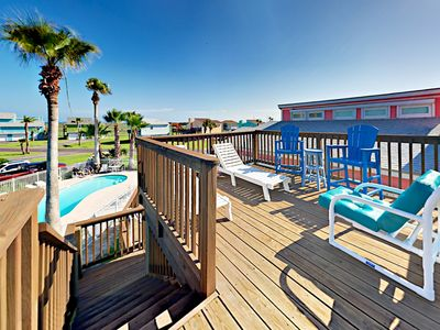 Photo for Split-Level Stunner, Lost Colony Villas,Water Views, Boardwalk/Pool, Sleeps11