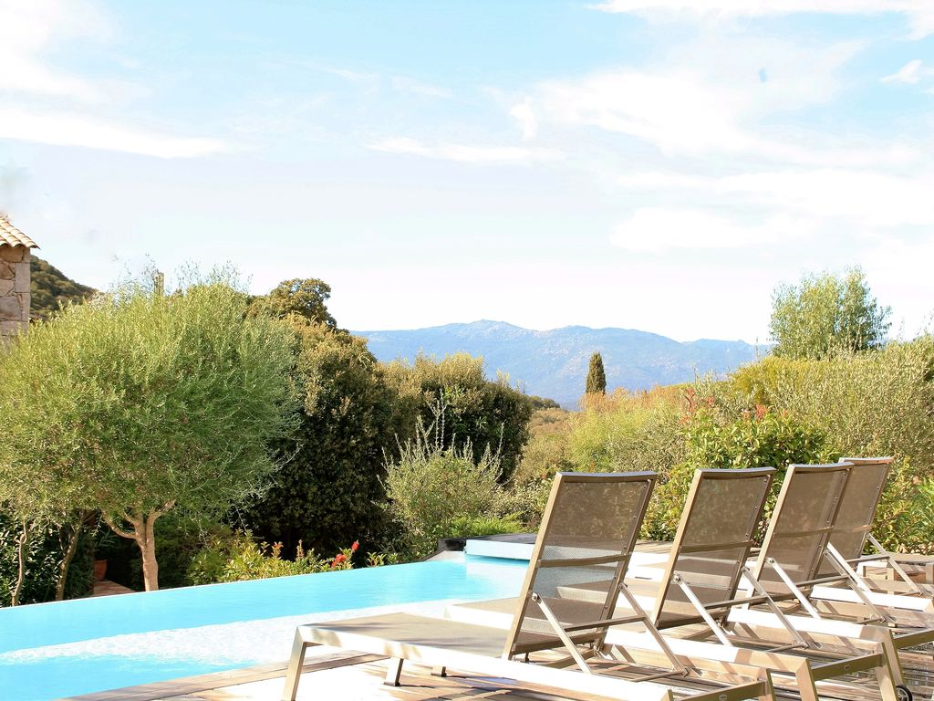 Beautiful Stone Villa For Rent In Corsica In Porto Vecchio Area Palombaggia