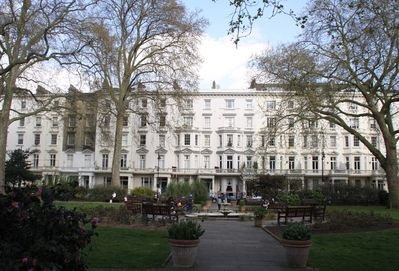 St George's Square, from private gardens