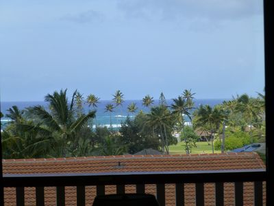 Ocean view from Lanai.  Building 8.  Quiet setting.