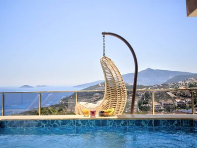 Photo for NEW VILLA ORLA WITH WONDERFULL  SEA VIEW