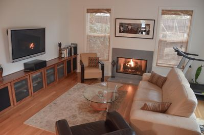 Living room with 50' Plasma TV and surround sound home theater