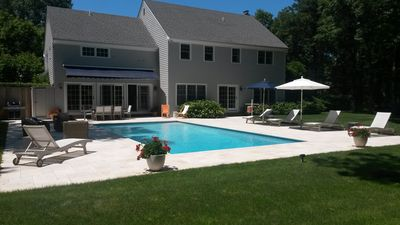 Photo for Beautiful East Hampton Estate W/ privateTennis, Heated Pool and beach/car permit