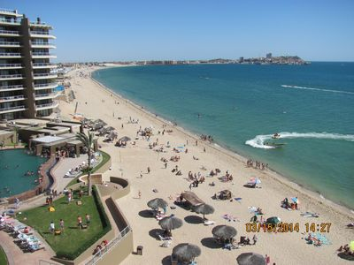 E608-Balcony View of Beach, Ocean and Old Port