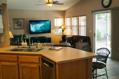 Kitchen and Family Room Combination