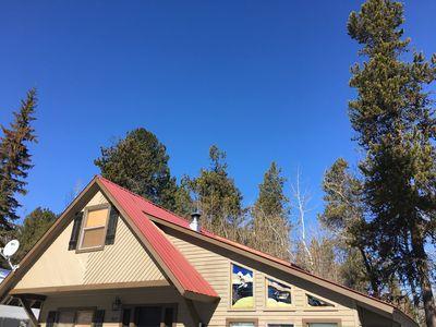 Photo for Cute cabin close to town! On the way to Brundage!  HOT TUB! $150 per night!