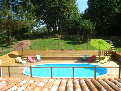 Photo for Beautiful 3 Bed Gite With Heated Pool And Garden Set In Tranquil 12.5 Acres