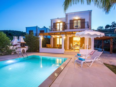 Photo for Beautiful villa with sea view and private pool only 7min drive from Lindos