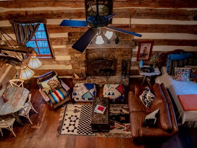 Photo for Hill Country Log Cabin