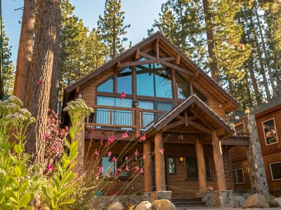 "Photo for Luxury ""Famous Cabin"" - Steps to Lake, Immaculate Estate for Extended Stay!"