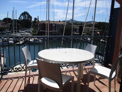 Photo for Canal view apartment in Port Grimaud near St Tropez