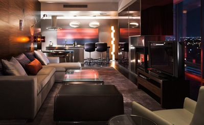 Living Room Overlooking the Las Vegas Strip