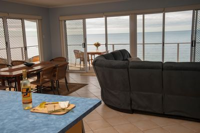 Views from kitchen, dining, lounge area