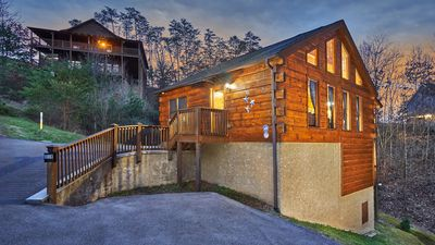 Photo for Newly Renovated Log Cabin, 3MIN from the Strip, Sleep 7, Hot Tub, Game Room.