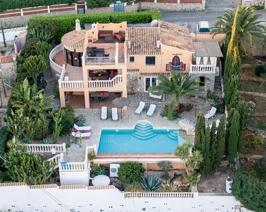 Photo for Luxury villa with sea views and heated private pool, 2 residential units