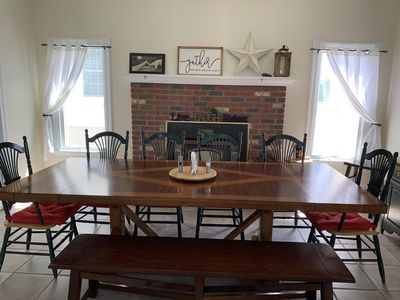 Large dining table to gather around