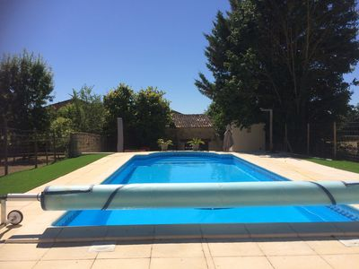 Photo for Stunning 5-bedroom Charentaise house in large secure grounds with outdoor pool .