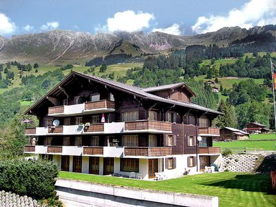 Photo for Apartment in the center of Ormont-Dessus with Lift, Parking, Internet, Washing machine (40783)
