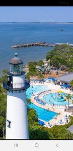 Neptune Park, Water Park and Lighthouse in Village on SSI - This area is located 2 blocks back from 400 Ocean Suites! Downtown Village area and Fishing Pier!