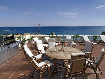 Photo for Luxury apartment by the Dona Ana beach in Lagos, large sea view terrace