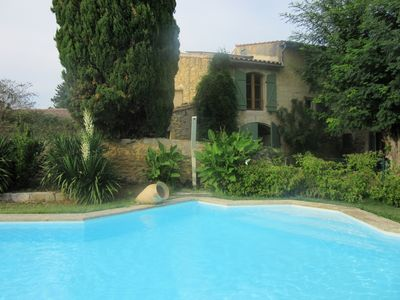Photo for Provencal farmhouse renovated keeping the rustic character situated in a park