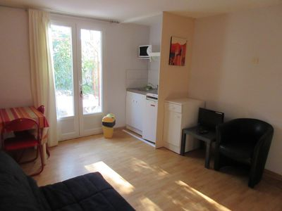 Photo for Studio 2 pers near the beach in Saint-Cyprien wi-fi terrace ground floor