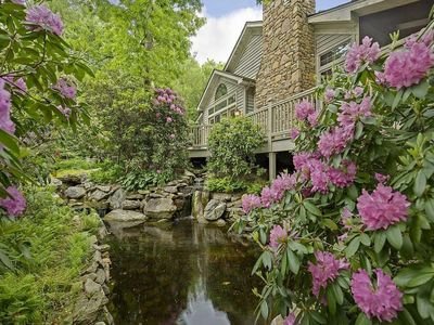 Photo for Rhododendron Villa Luxurious Mountain Escape! Spectacular outdoor spaces, Home Theater, Hendersonville, Asheville
