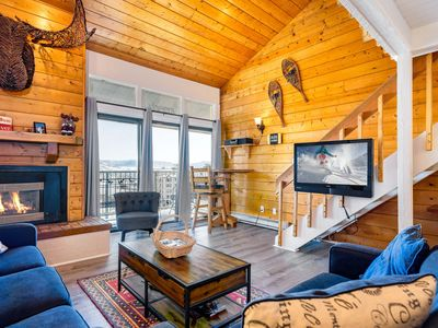 Photo for Luxury Rustic Condo Steps From Steamboat's Slopes – Indoor and Outdoor  Hot