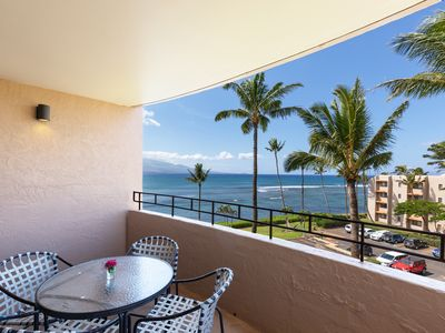 Photo for Maui Summer Savings Right on Ocean Remodeled A/C Living Room*Island Sands 500*