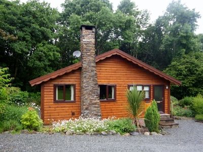 Photo for Lodge with private Hot Tub, Sauna, Woodburner, WiFi, all amenities, Dog friendly