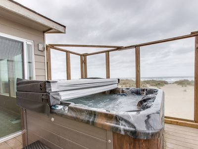 Photo for Dog-friendly, beachfront home w/ great views, shared pool & private hot tub!