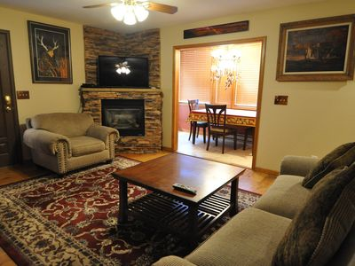 Photo for NEW LISTING! Beautiful, family-friendly home w/kitchen, gas fireplace & deck