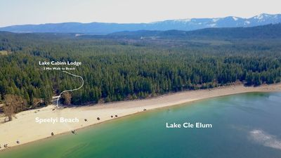 Photo for SAVE 25% NOW! Luxurious Cabin Nr Lake Cle Elum. Hot Tub|Game Room|Fenced Yard